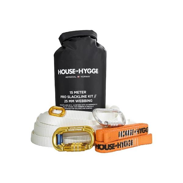 Small kit House of Hygge  Slakkline 15m/25mm Pro Small Kit 25mm bred//Farge Hvit -30%