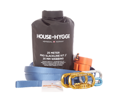 Slakkline M Kit House of Hygge  Slakkline 25m/25mm Pro Medium Kit 25mm// Farge Blå Apache -30%
