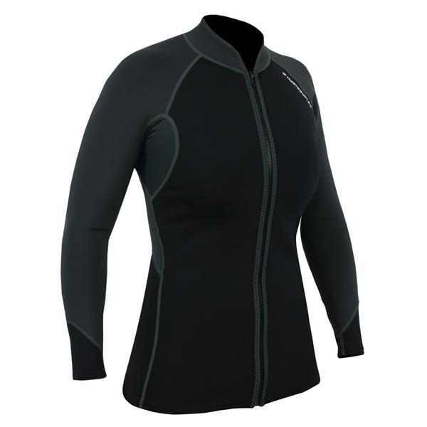 15010.03.101 NRS  NRS Women's HydroSkin Jacket Grå S 0,5mm neopren og tynn fleece