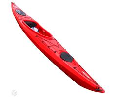 FIT-132-PE-RED Tahe Marine  Tahe Fit 132 PE Kayak Red Skeg 3 lags HDPE - Stor cockpit - Ror/Skeg