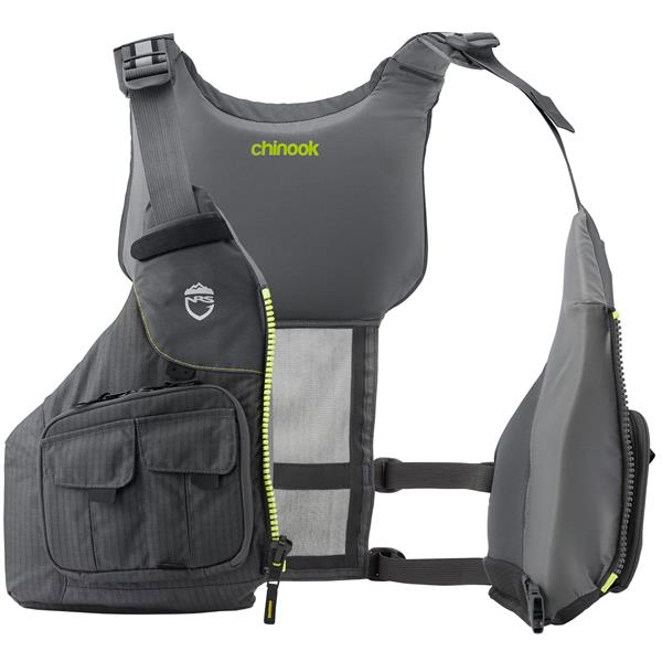 40050.03.100 NRS  NRS Chinook Fishing PFD Charcoal XS/M Den ultimate fiskevest