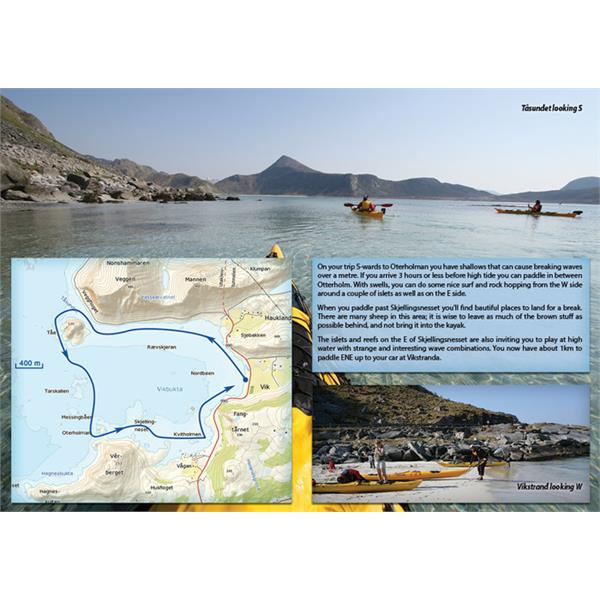 114589 Gyldendal Norsk Forlag  Kajakkboken The Lofoten Islands A Sea Kayak guide to the Magival Isles