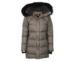19210090303 Fleischer Couture  Polaris Down coat w/alpaca BrownOlive 38 Like the night sky's most famous star
